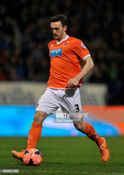 Jack Robinson of Blackpool during the FA CupThird Round match between Bolton Wanderers and Blackpool at the Reebok Stadium on January 4 2014 in...