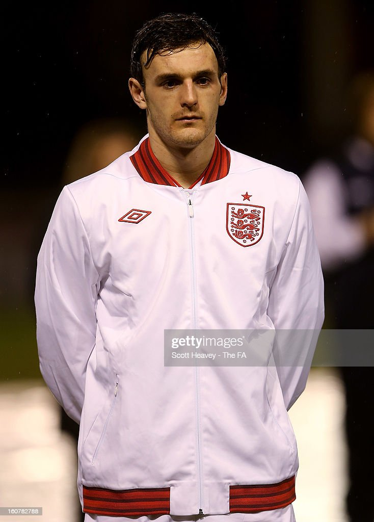 Jack Robinson of England during the International Match between England Under 21's and Sweden Under 21's at Banks' Stadium on February 5, 2013 in Walsall, England.