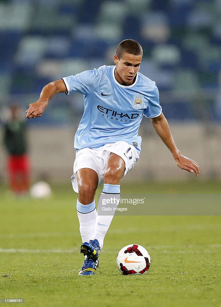 Jack Rodwell of Manchester City during the Nelson Mandela Football Invitational match between AmaZulu and Manchester City at Moses Mabhida Stadium on July 18, 2013 in Durban, South Africa.