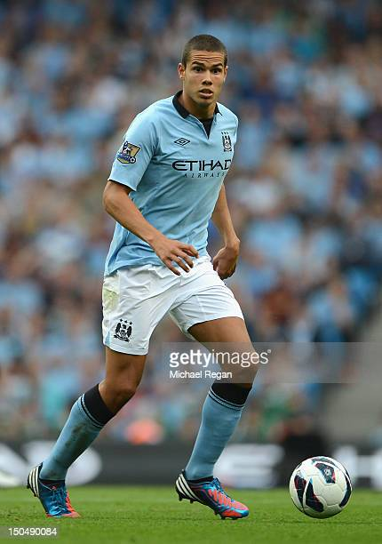 Jack Rodwell of Manchester City in action during the Barclays Premier League match between Manchester City and Southampton at Etihad Stadium on...