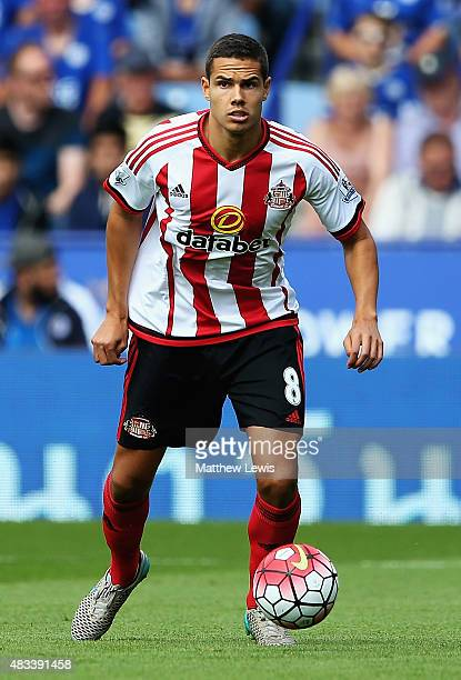 Jack Rodwell of Sunderland in action during the Barclays Premier League match between Leicester City and Sunderland at The King Power Stadium on...