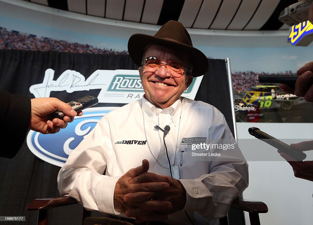 Jack Roush, of Roush Fenway Racing, speaks to the media during the 2013 NASCAR Sprint Media Tour on January 24, 2013 in Concord, North Carolina.