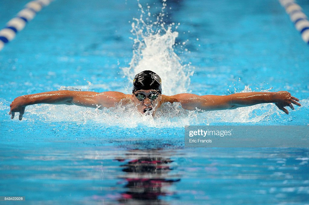 Jack Saunderson of the United States competes in a preliminary heat of the Men's 200 Meter Butterfly during Day 3 of the 2016 U.S. Olympic Team Swimming Trials at CenturyLink Center on June 28, 2016 in Omaha, Nebraska.