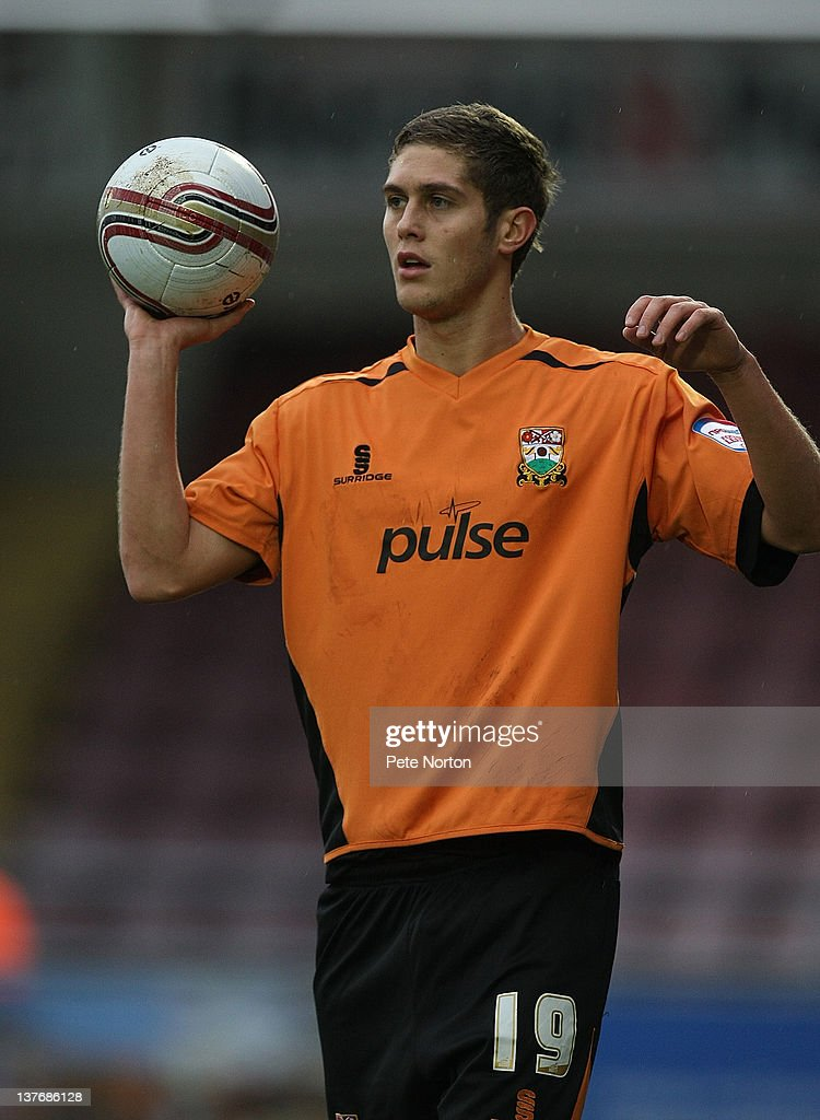 Jack Saville of Barnet in action during the npower League Two match between Northampton Town and Barnet at Sixfields Stadium on January 21, 2012 in Northampton, England.