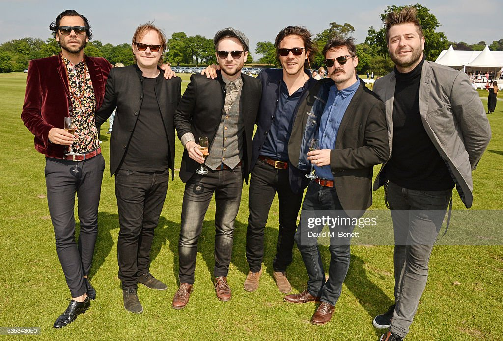 <a gi-track='captionPersonalityLinkClicked' href=/galleries/search?phrase=Jack+Savoretti&family=editorial&specificpeople=4276503 ng-click='$event.stopPropagation()'>Jack Savoretti</a> (3R) and band members attend day two of the Audi Polo Challenge at Coworth Park on May 29, 2016 in London, England.