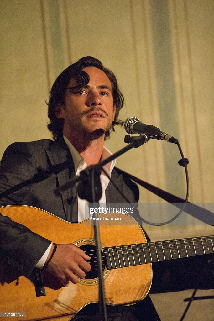 Jack Savoretti performs during the dinner to celebrate Italo Zucchelli's ten years as Calvin Klein Collection's Men's creative director on June 23, 2013 in Milan, Italy.