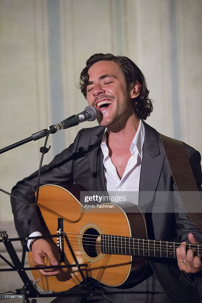 <a gi-track='captionPersonalityLinkClicked' href=/galleries/search?phrase=Jack+Savoretti&family=editorial&specificpeople=4276503 ng-click='$event.stopPropagation()'>Jack Savoretti</a> performs during the dinner to celebrate Italo Zucchelli's ten years as Calvin Klein Collection's Men's creative director on June 23, 2013 in Milan, Italy.