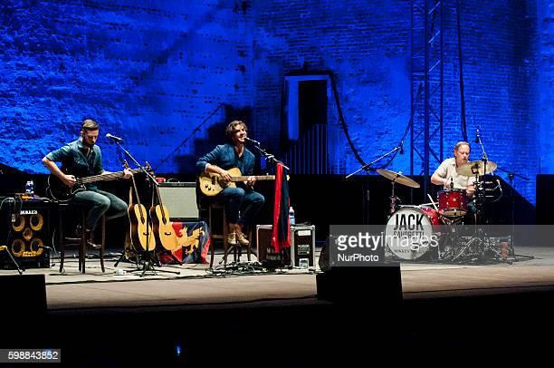 Jack Savoretti trio performs on stage of Veneto Jazz Festival in Bassano del Grappa Friday September 2 2016