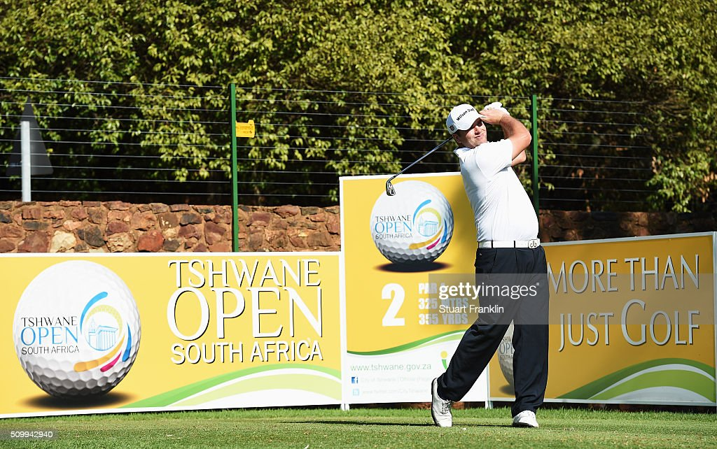 Jack Senior of England plays a shot during the third round of the Tshwane Open at Pretoria Country Club on February 13, 2016 in Pretoria, South Africa.
