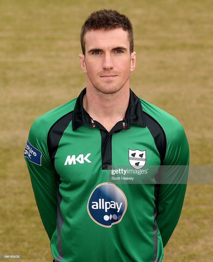 Jack Shantry during a Photocall for Worcestershire County Cricket Club on April 9, 2013 in Worcester, England.