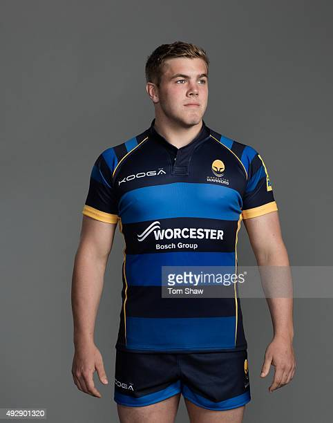 Jack Singleton of Worcester poses for a picture during the Worcester Warriors Photocall for BT at Sixways Stadium on September 23 2015 in Worcester...