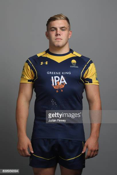 Jack Singleton of Worcester poses for a portrait during the Worcester Warriors Photocall for the 20172018 Aviva Premiership Rugby season at Sixways...