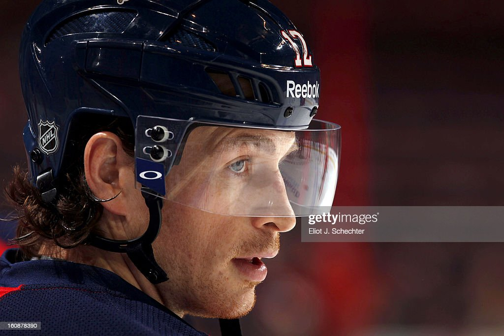Jack Skille #12 of the Florida Panthers warms up on the ice prior to the start of the game against the Winnipeg Jets at the BB&T Center on January 31, 2013 in Sunrise, Florida.