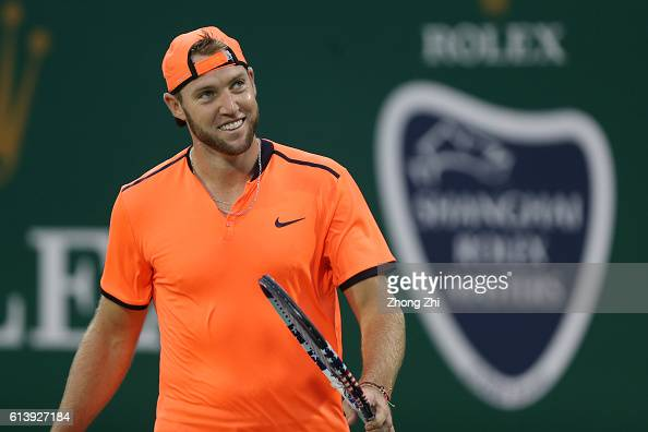 Jack Sock of the United States celebrates during the match against Guido Pella of Argentina on Day 3 of the ATP Shanghai Rolex Masters 2016 at Qi...