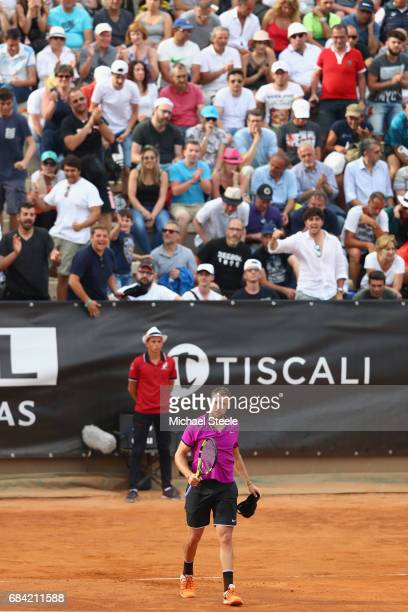 Jack Sock of USA after his three set second round victory against Jiri Vesely of Czech Republic on Day Four of The Internazionali BNL d'Italia 2017...