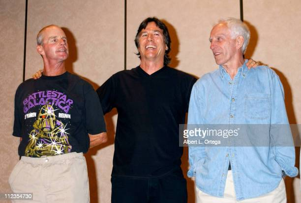 Jack Stauffer Richard Hatch John Dullaghan during 2003 Galacticon Celebrating the 25th Anniversary of 'Battlestar Galactica' Day One at The Universal...