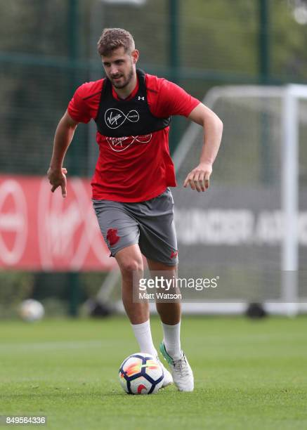 Jack Stephens during a Southampton FC training session at the Staplewood Campus on September 19 2017 in Southampton England