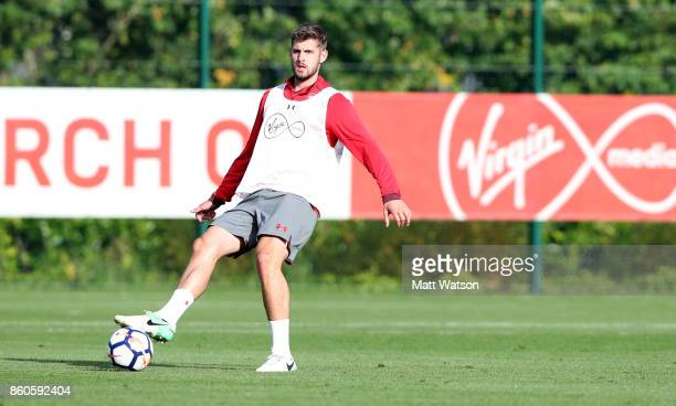 Jack Stephens during a Southampton FC training session at the Staplewood Campus on October 12 2017 in Southampton England