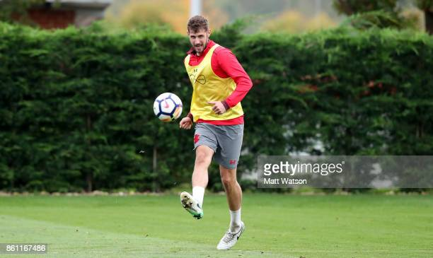 Jack Stephens during a Southampton FC training session at the Staplewood Campus on October 13 2017 in Southampton England