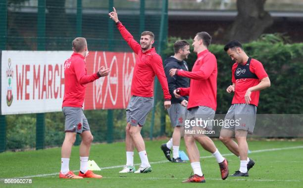 Jack Stephens during a Southampton FC training session at the Staplewood Campus on October 26 2017 in Southampton England
