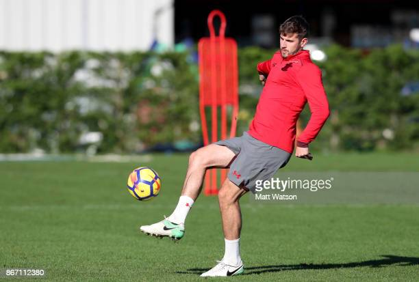 Jack Stephens during a Southampton FC training session at the Staplewood Campus on October 27 2017 in Southampton England