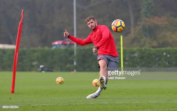 Jack Stephens of Southampton during a Southampton FC training session at the Staplewood Campus on November 2 2017 in Southampton England
