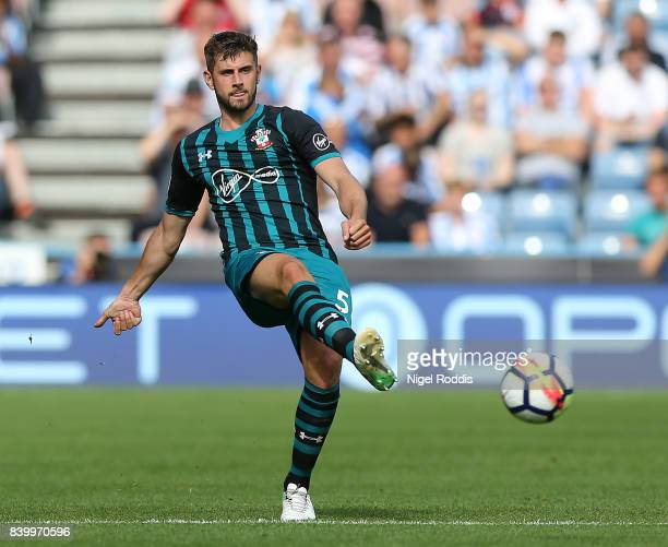 Jack Stephens of Southampton during the Premier League match between Huddersfield Town and Southampton at Galpharm Stadium on August 26 2017 in...