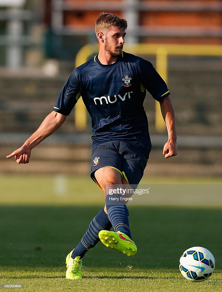 Jack Stephens of Southampton in action during the pre-season friendly match between KSK Hasselt and Southampton at the Stedelijk Sportstadion on July 17, 2014 in Hasselt, Belgium.
