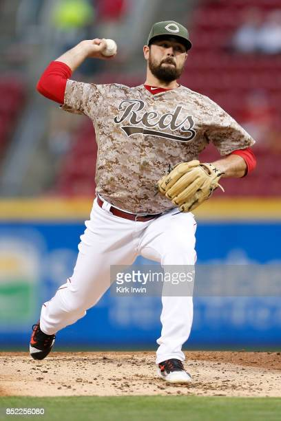 Jack Stephens of the Cincinnati Reds throws a pitch during the game against the St Louis Cardinals at Great American Ball Park on September 19 2017...
