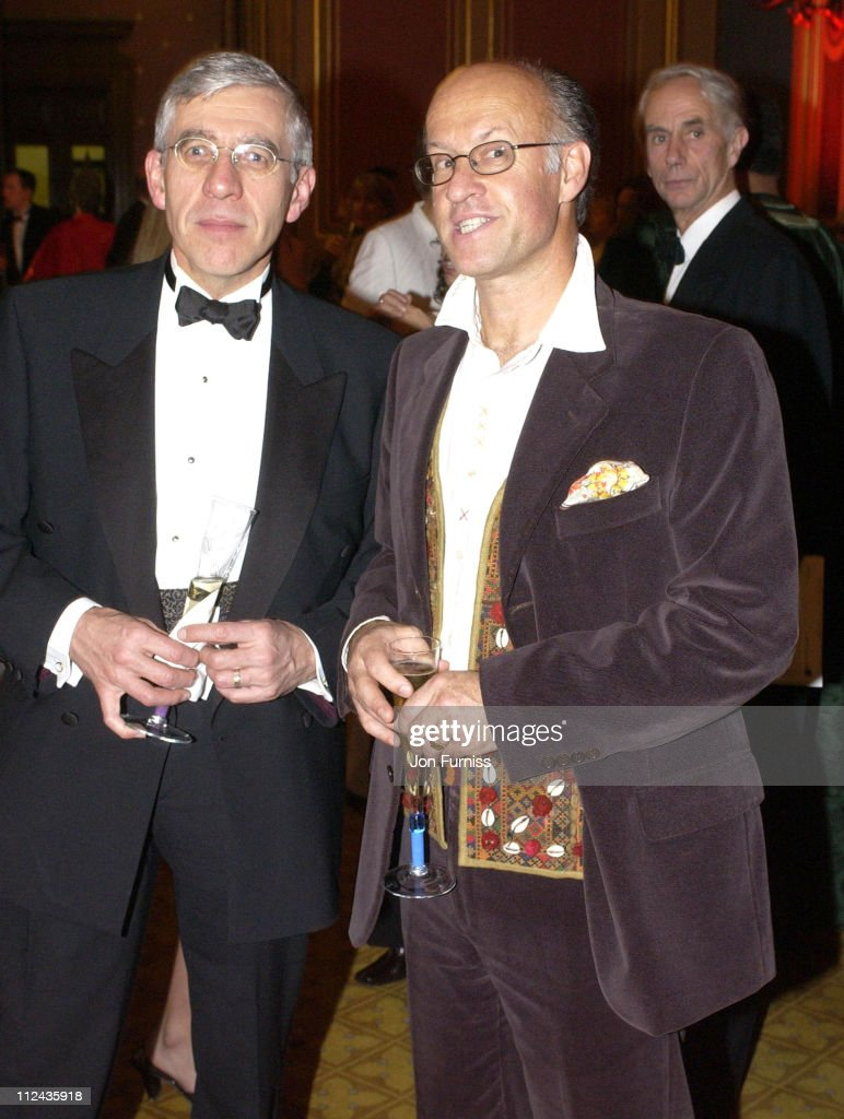 Jack Straw and guest during The Mulberry / SPW Bottletop Charity Event - 2002 at Foreign Commonwealth Office in London, Great Britain.