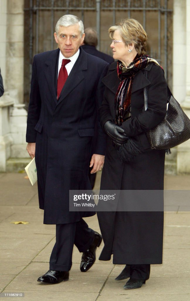Jack Straw attends Memorial Service for former Labour Minister Robin Cook.