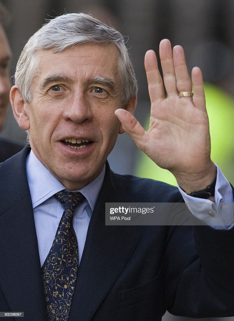 <a gi-track='captionPersonalityLinkClicked' href=/galleries/search?phrase=Jack+Straw&family=editorial&specificpeople=118608 ng-click='$event.stopPropagation()'>Jack Straw</a>, Britain's Justice Secretary, waves as he arrives at a cabinet meeting, November 20, 2009 in Nottingham, England. The Cabinet met in Nottingham today in a regional away-day for Gordon Brown's ministers who have gathered in the city after a series of stops across the East Midlands, which took in the cities of Derby, Leicester and Lincoln.