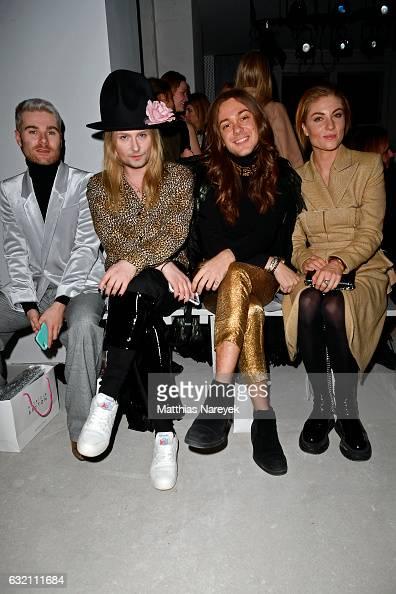 Jack Strify Riccardo Simonetti and Lisa Banholzer attend the Dawid Tomaszewski X Patrizia Aryton show during the MercedesBenz Fashion Week Berlin A/W...