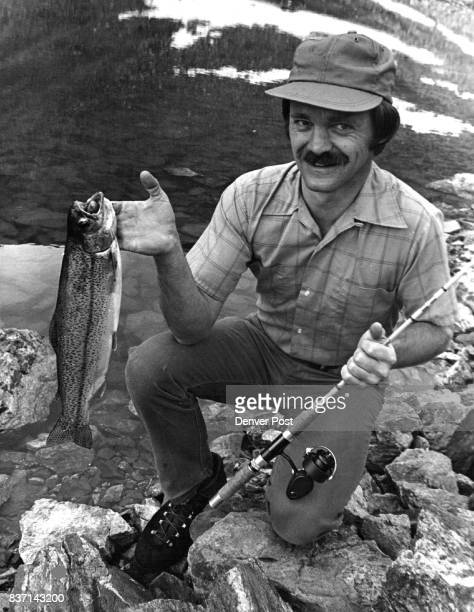T A GOLDEN TROUT BUT HE ISN'T COMPLAINING Jack Syptak holds 19inch rainbow taken from abovetimberline lake Credit Denver Post