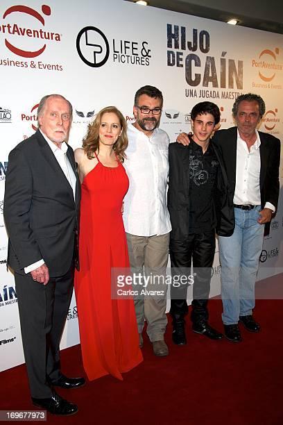 Jack Taylor Maria Molins director Jesus Monllao David Solans and Jose Coronado attend the 'Hijo de Cain' premiere at the Callao cinema on May 30 2013...