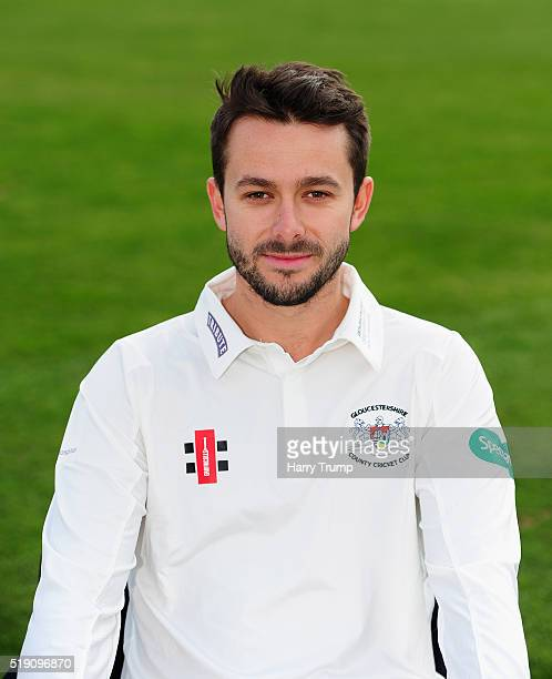 Jack Taylor of Gloucestershire during the Gloucestershire CCC Photocall at the County Ground on April 4 2016 in Bristol England