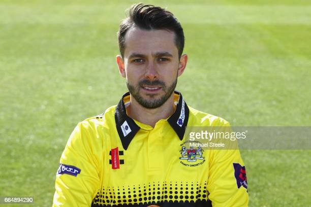Jack Taylor of Gloucestershire in the T20 NatWest Blast kit during the Gloucestershire County Cricket photocall at The Brightside Ground on April 5...