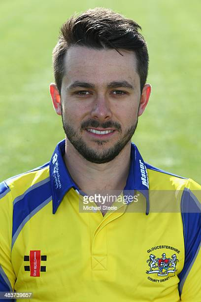 Jack Taylor of Gloucestershire poses for a portrait wearing the NatWest T20 Blast kit during the Gloucestershire CCC photocall at The County Ground...