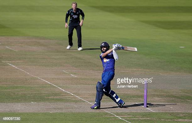 Jack Taylor of Gloustershire hits to the boundary during the Royal London OneDay Cup Final between Surrey and Gloustershire at Lord's Cricket Ground...