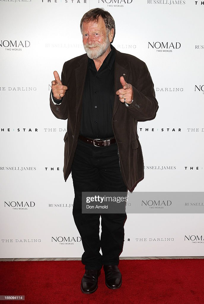 <a gi-track='captionPersonalityLinkClicked' href=/galleries/search?phrase=Jack+Thompson&family=editorial&specificpeople=210750 ng-click='$event.stopPropagation()'>Jack Thompson</a> poses at the book launch of 'Nomad Two Worlds' by Russell James on November 1, 2012 in Sydney, Australia.