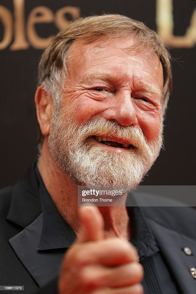 Jack Thompson walks the red carpet during the Australian premiere of 'Les Miserables' at the State Theatre on December 21, 2012 in Sydney, Australia.