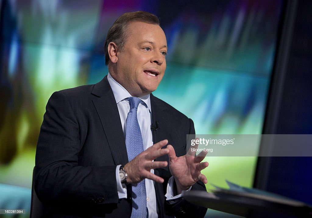 Jack Tretton, chief executive officer of Sony Computer Entertainment America Inc., speaks during a Bloomberg Television interview in New York, U.S., on Thursday, Feb. 21, 2013. Sony Corp. unveiled the PlayStation 4, its first video-game console in seven years, introducing new cloud and social-media features. Photographer: Scott Eells/Bloomberg via Getty Images