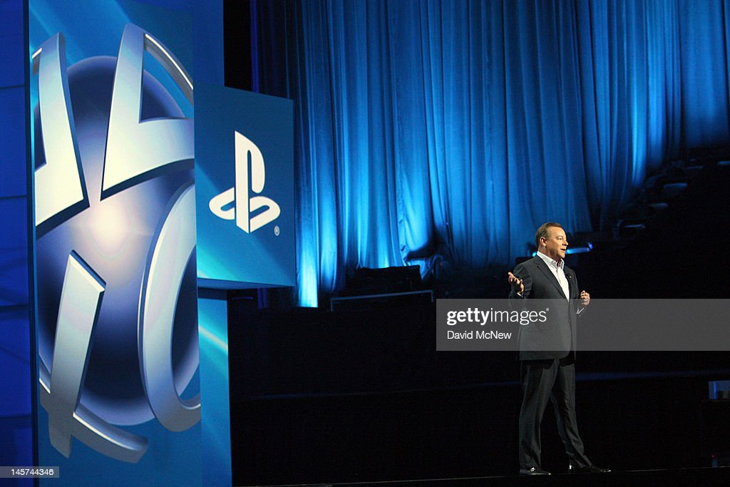 Jack Tretton, president and CEO of Sony Computer Entertainment America, addresses the Sony 'press conference' on the eve of the Electronic Entertainment Expo (E3) on June 4, 2012 in Los Angeles, California. E3 is the most important yearly trade show the USD 78.5 billion videogame industry.