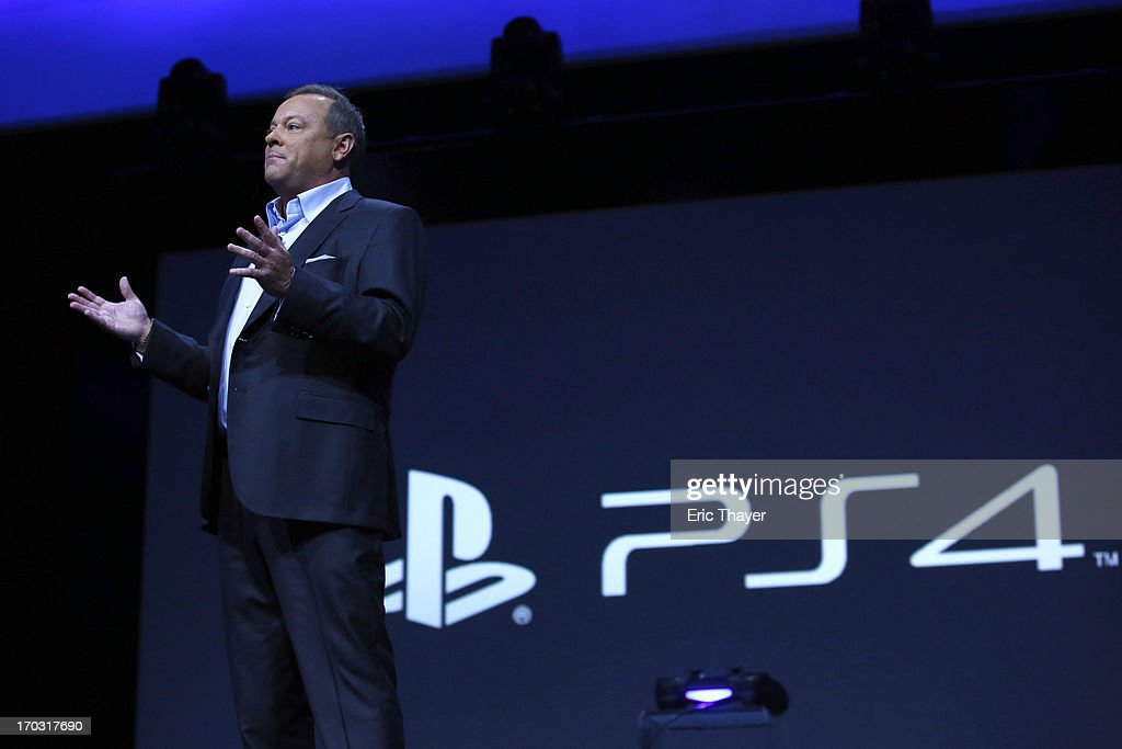 Jack Tretton, President and CEO, Sony Computer Entertainment America speaks at the Sony Playstation E3 2013 press conference on June 10, 2013 in Los Angeles, California. Thousands are expected to attend the annual three-day convention to see the latest games and announcements from the gaming industry.