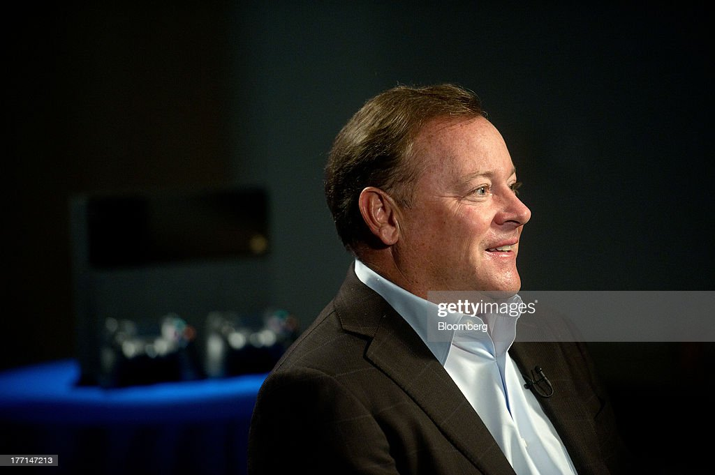 Jack Tretton, president and chief executive officer of Sony Computer Entertainment America, speaks during an interview at the company's headquarters in San Mateo, California, U.S., on Tuesday, Aug. 20, 2013. Sony Corp. will start selling the PlayStation 4 in North America on Nov. 15, moving to obtain an early advantage in the largest video-game market against Microsoft Corp. Photographer: Noah Berger/Bloomberg via Getty Images