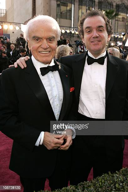 Jack Valenti and son John during The 77th Annual Academy Awards Executive Arrivals at Kodak Theatre in Hollywood California United States