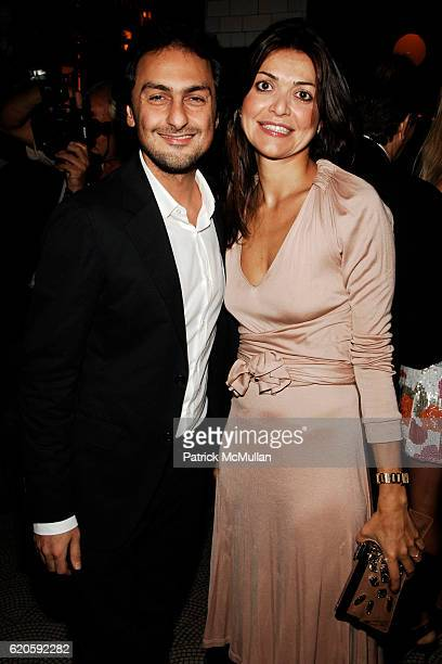 Jack Vartanian and Filipa Fino attend Private Dinner hosted by CARLOS JEREISSATI CEO of IGUATEMI at Pastis on September 6 2008 in New York City