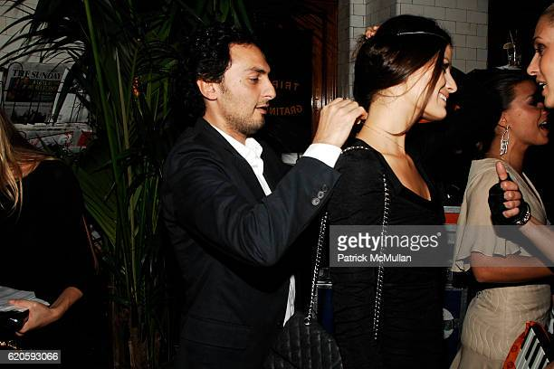 Jack Vartanian and Isabeli Fontana attend Private Dinner hosted by CARLOS JEREISSATI CEO of IGUATEMI at Pastis on September 6 2008 in New York City
