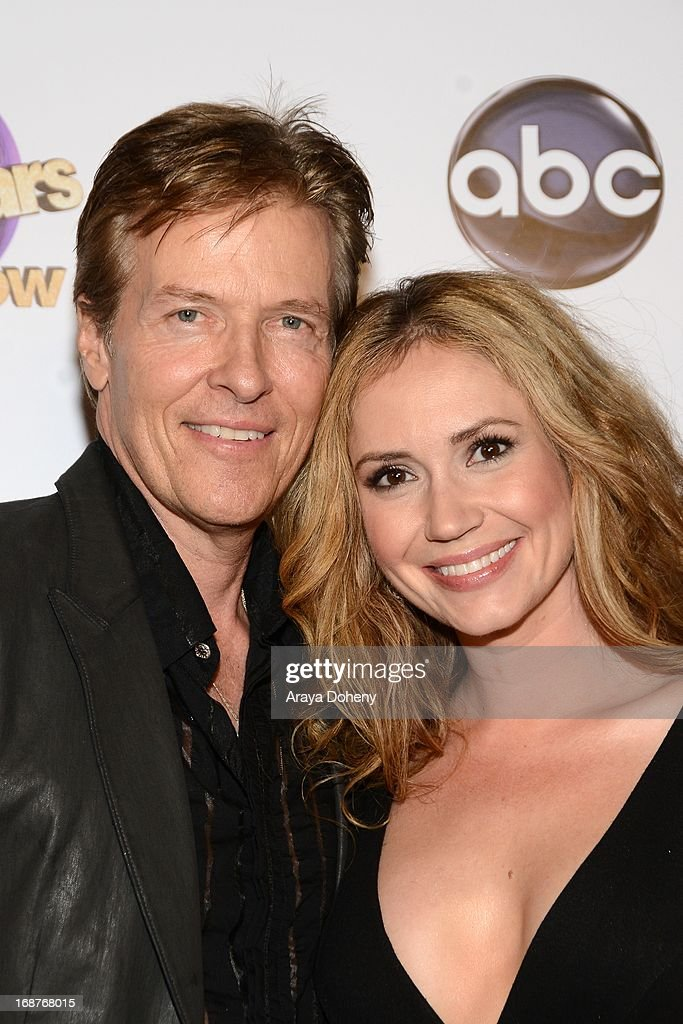 Jack Wagner and Ashley Jones arrive at the 'Dancing With The Stars' 300th episode red carpet event on May 14, 2013 in Los Angeles, California.