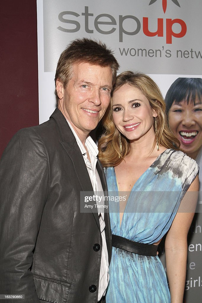 Jack Wagner and Ashley Jones attend the Step Up Women's Network Women Who Rock Event at The Roxy Theatre on March 6, 2013 in West Hollywood, California.